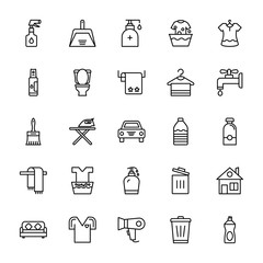 Cleaning Line Icons 1