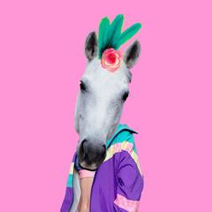 Fashion Vanilla Unicorn Minimal art collage