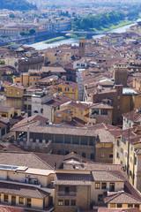 Toskana-Panorama, Florenz von oben mit Arno