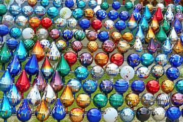 Colorful garden balls