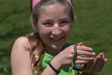 Girl with snake