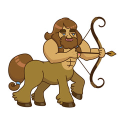 Vector illustration of a centaur with a bow and arrow