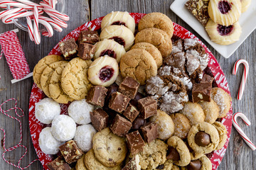 Holiday Cookie Gift Tray with Assorted Baked Goods