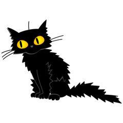 Vector Halloween Black Cat