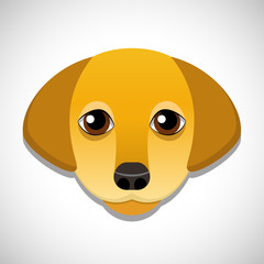 Vector drawing of a dog's head
