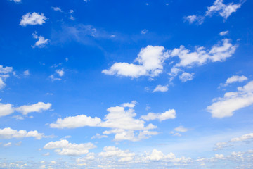 Clouds with blue sky background.