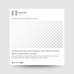 Social Photo Frame Vector. Transparent. Modern Mobile App Communication. Communication Sign Illustration