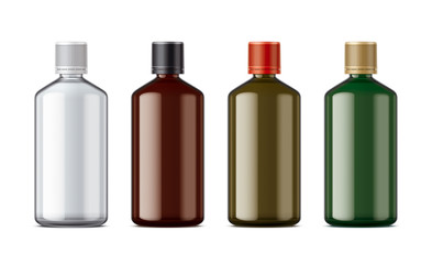 Medicine bottles mockup. Big size.