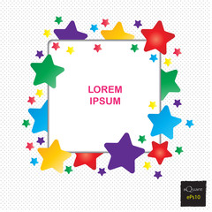 Vector design square elements for template. Frame of square for website or business template. Colorful square background.
