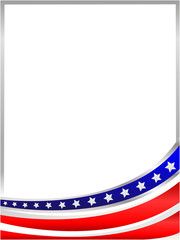USA flag wave from the bottom frame with empty space for text.