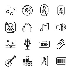 Music And Sound Icons Set Collection Kit