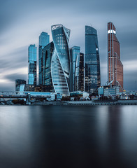 Poster Moscow View at Moscow-city skyscrapers in the business district of the Russian capital