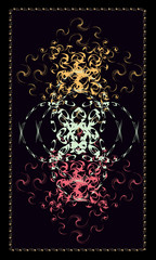Tarot cards - back design.  Abstract pattern