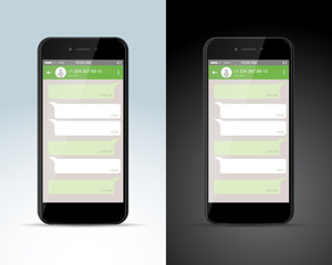 Social network concept. Blank template. Messenger window. Chating and messaging concept. Isolated vector illustration.
