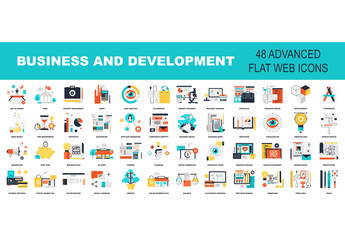 48 Colorful Business Icons 1