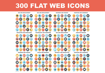 300 Colorful Round Icons 2