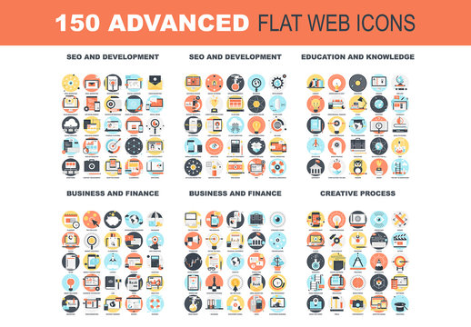 150 Colorful Round Icons 1