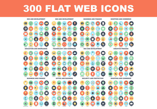 300 Colorful Round Icons 1