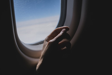View from the inside of the plane.