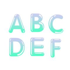 (Element) set of six letters, letter flat design
