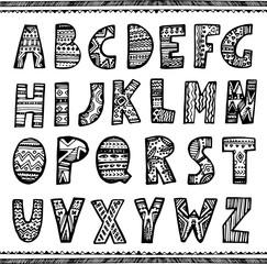 hand drawn ornamental font