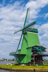 The windmills of Holland - typical landmark in the Netherlands