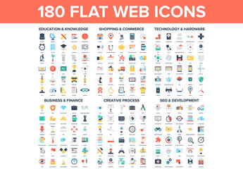 180 Colorful Icons 1