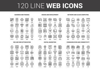 120 Line Art Icons 1