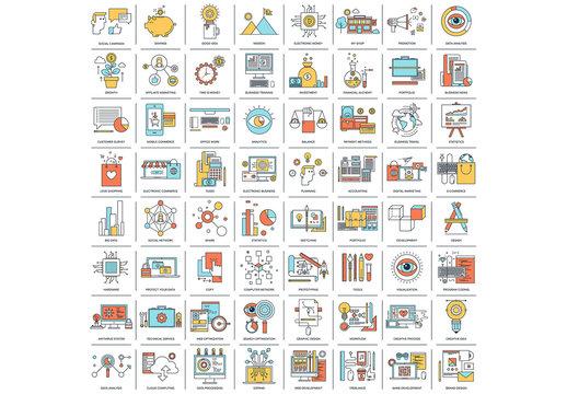 64 Cartoon Style Icons 1