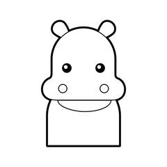 Wild hippopotamus isolated icon vector illustration design