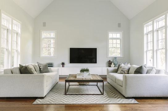 Contemporary Family Room in Home