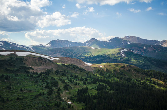 The Continental Divide in Loveland Pass, Colorado