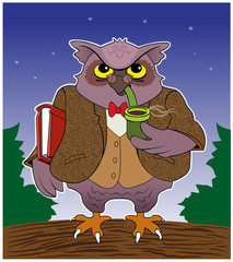 Wise Bird / An owl pretends to be a college professor.