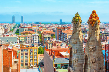 Cityscape in Barcelona, Spain