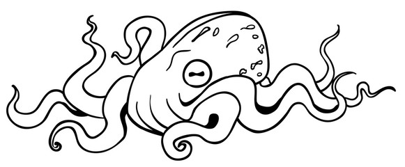 Octopus Resting Drawing