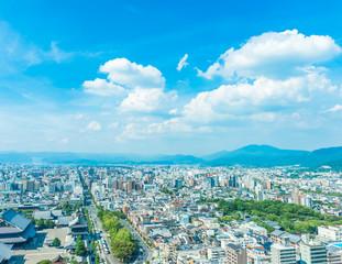Poster de jardin Kyoto 都市風景 京都 展望