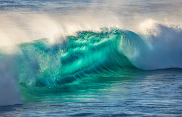 Beautiful wave in storming sea water