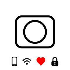 camera icon stock vector illustration