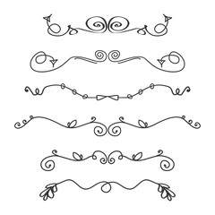 Doodle hand drawn dividers,graphic elements
