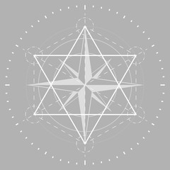 Sacred geometry, religion, esoteric. vector illustration.