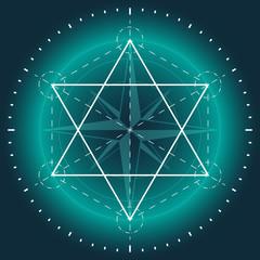Sacred geometry, religion, esoteric. vector illustration.