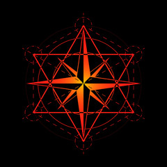 Sacred geometry, religion, esoteric. Isolated vector illustration.