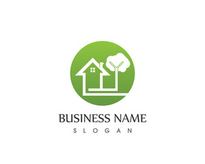 Building Home Nature Logo