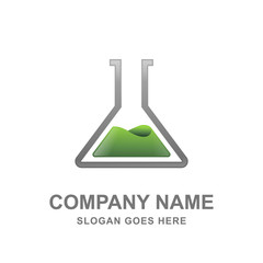 Science Research Formula Laboratory Logo Vector