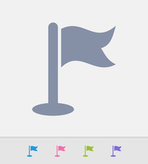 Flag Pole - Granite Icons. A professional, pixel-perfect icon designed on a 32x32 pixel grid and redesigned on a 16x16 pixel grid for very small sizes.