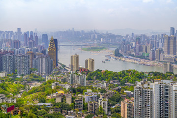 Chongqing architectural scenery and skyline
