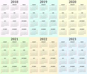 category calendars