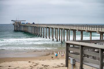 Ellen Browning Scripps Memorial Pier, La Jolla Beach - San Diego - CA