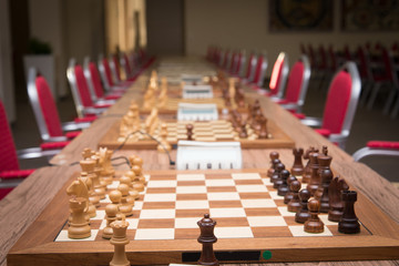 Chess equipment ready for tournament