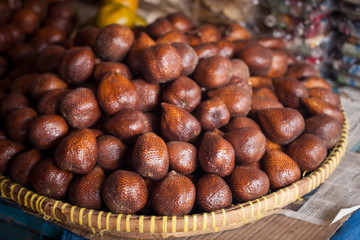 an exotic food from asia salak from indonesia java